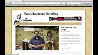 The New & Improved Matt's Basement Workshop Website Tour