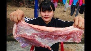 Cooking skills | Grilled pork belly recipe | survival skills