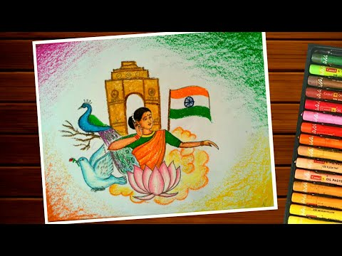 CULTURAL DIVERSITY OF INDIA DRAWING||HERITAGE INDIA DRAWING EASY