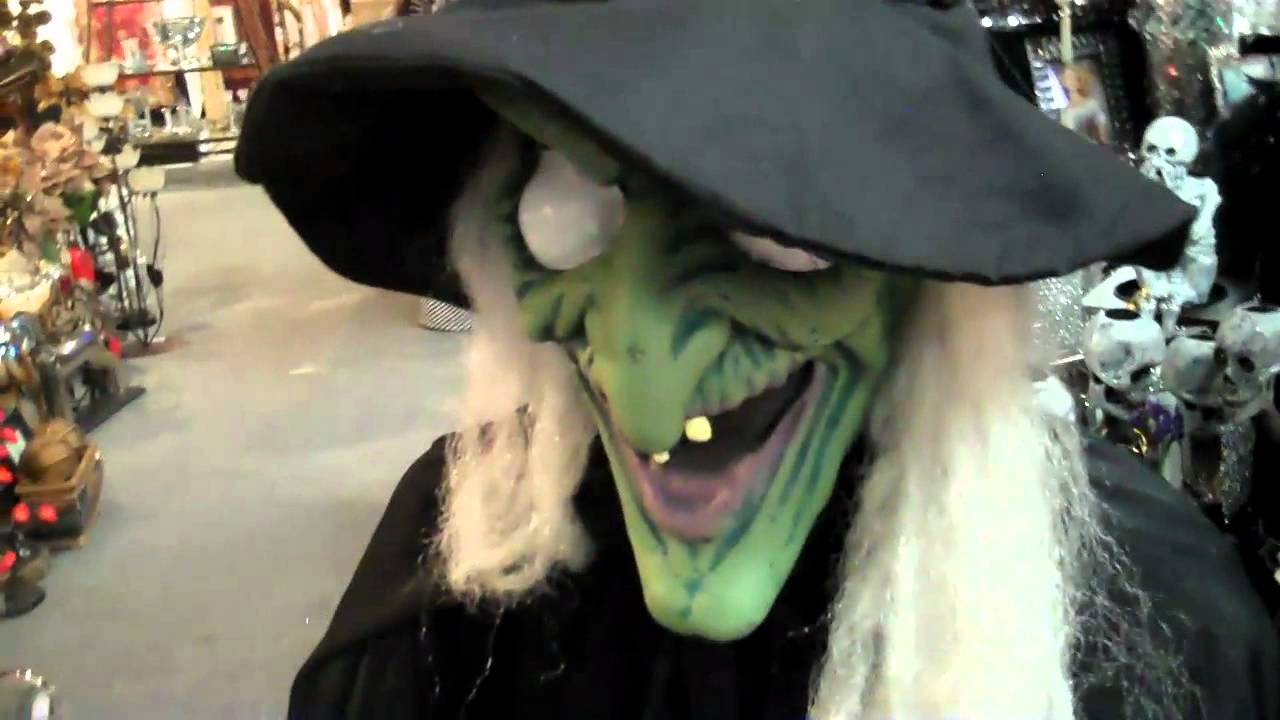 scary animated witch decoration for halloween youtube - Halloween Witch Decoration