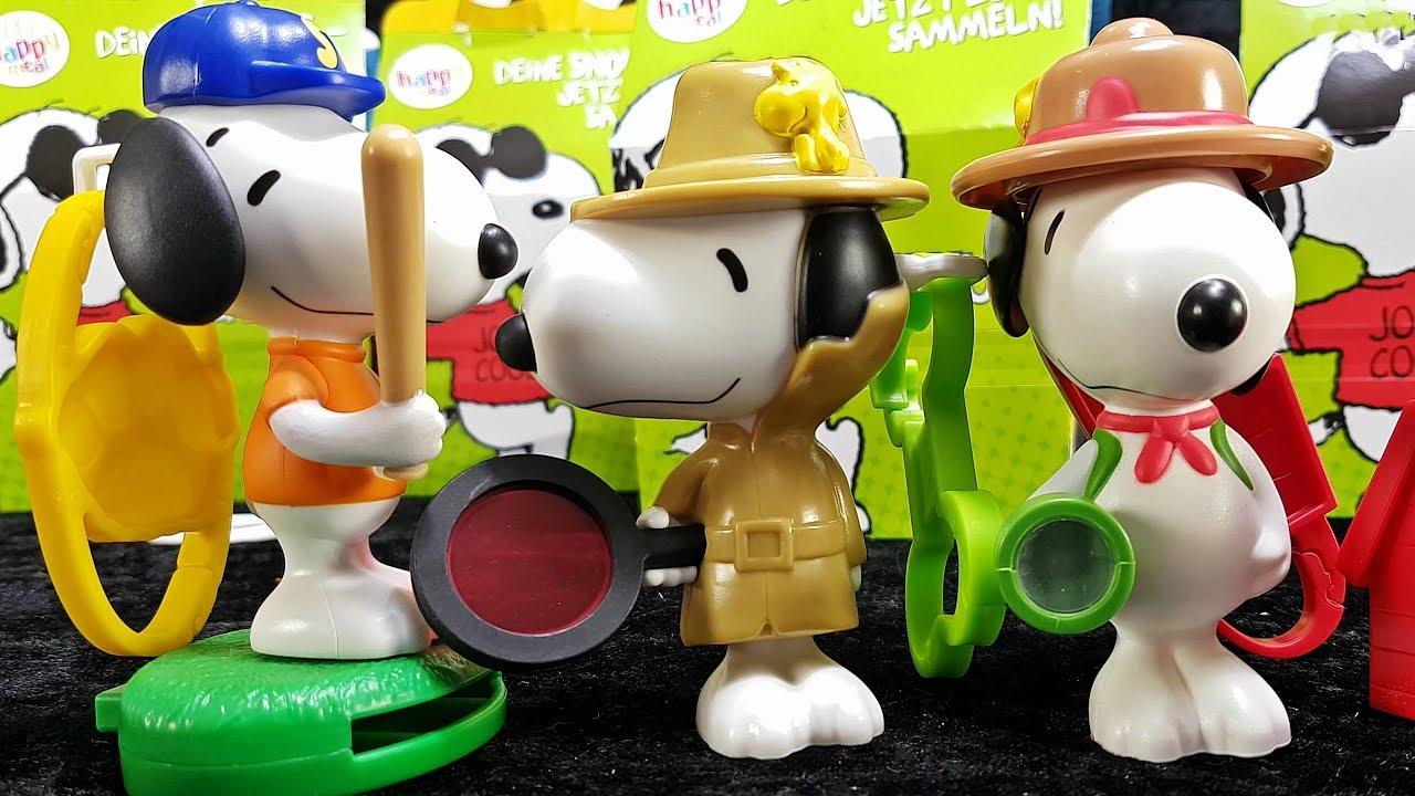 Snoopy Peanuts Happy Meal Spielzeug Neu Bei Mc Donalds Februar