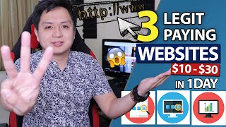TOP 3 Legit Paỳing Websites and Online Jobs at Home | Pwede ka kumita ng $10-$30/Day (EASY GUIDE!)