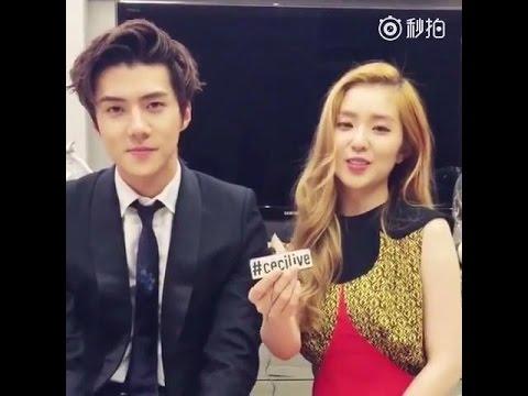 160113 EXO ✪ CECI KOREA INS ♥ 세훈 sehun 。 red velvet ✧ Irene