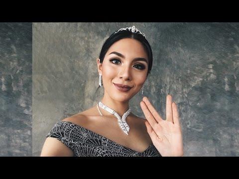 Miss Thailand universe makeup (Eng Sub) แต่งตามน้ำตาล  | Fah Sarika