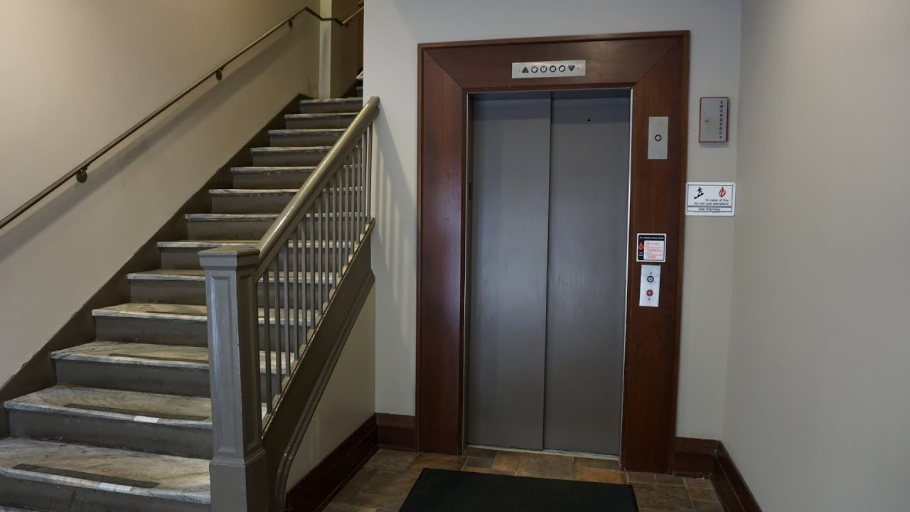 Lagerquist hydraulic elevator with 90 degree doors @ The Lowry Building, Saint Paul, MN