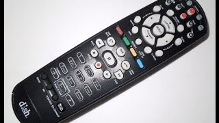 DIY How To Pair & Program Hopper Joey Dish Network Remote 40 UHF Vizio TV DVD AUX Samsung LG etc.