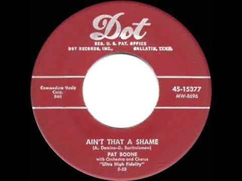 1955 HITS ARCHIVE: Ain't That A Shame - Pat Boone (a #1 record ...