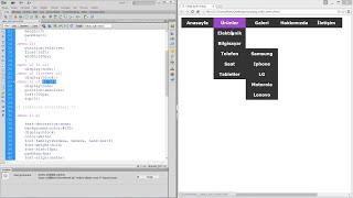 CSS ile Yatay Açılır Menü Yapımı 2