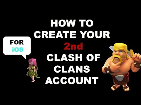 How To Change/Create a 2nd Clash Of Clans Account for your iphone/ipad [iOS] - Clash of Clans