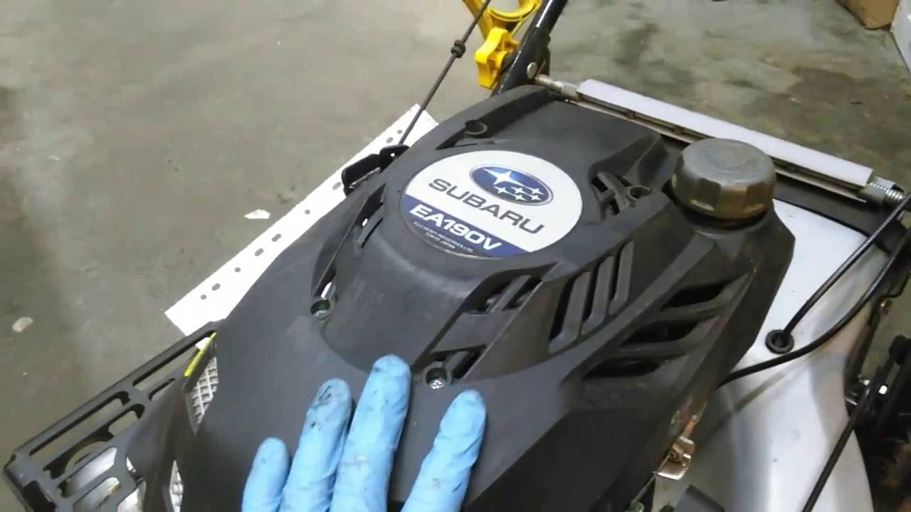 R paration carburateur subaru ea190v youtube - Nettoyage carburateur tondeuse ...