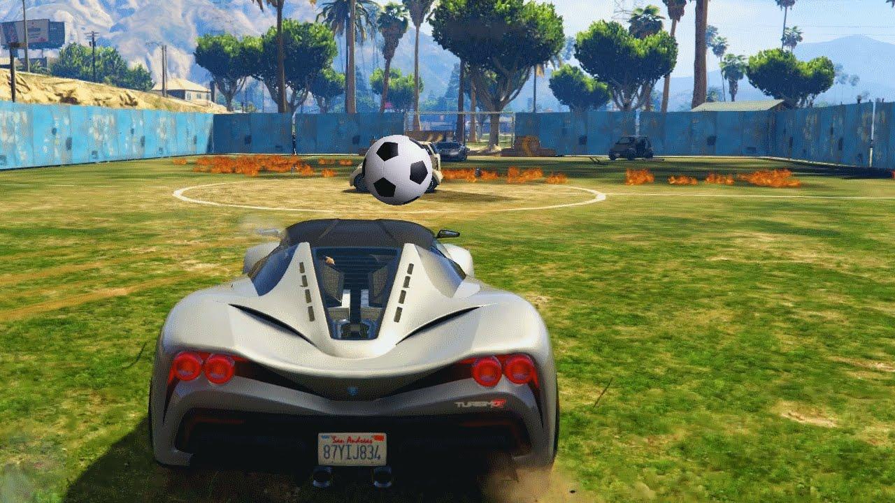 CAR FOOTBALL IN GTA GTA 5 Funny Moments  FunnyCatTV