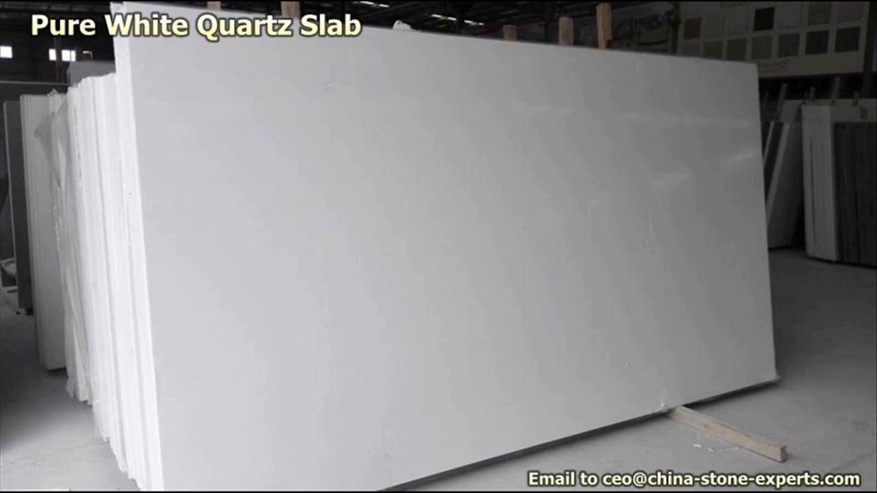 Pure White Quartz For Whole Kitchen