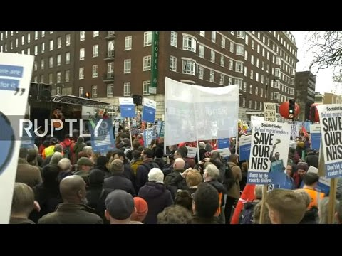 LIVE: 'Our NHS' protest takes place in London