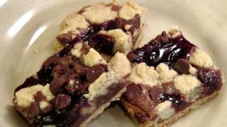 Chocolate Raspberry Crumb Bars - Recipe By Laura Vitale - Laura In The Kitchen Ep. 152