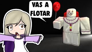 THE EVIL CLOWN IT CHASES US IN ROBLOX