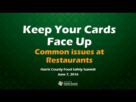 Food Safety Summit 2016 | Keep Your Cards Face Up