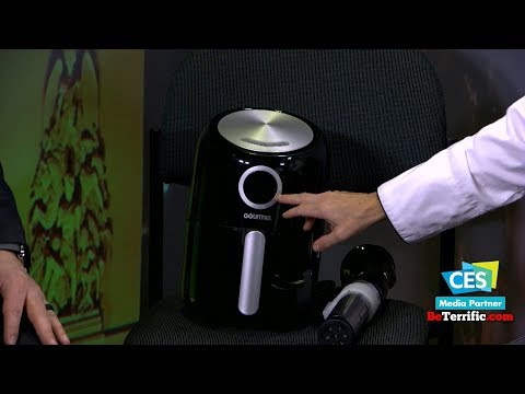 CES 2018: Celebrity Chef Cat Cora displays the Gourmia Air Fryer on BeTerrific!!