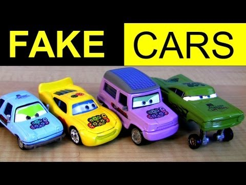 Fail Fake Knock Off Lightning Mcqueen Cars Fake Or Factory Customs Disney Pixar Hydraulic