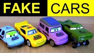 Fail Fake Knock-Off Lightning McQueen Cars Fake or Factory Customs? Disney Pixar Hydraulic Ramone