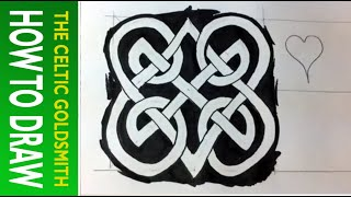 How to Draw Celtic Knots 15 - Double Heart Triskele - 3/3