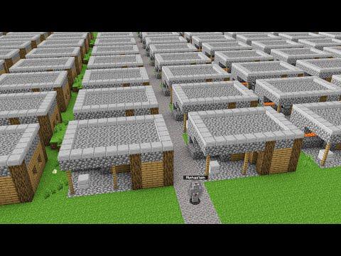 ÜBERLEBEN WIR IN DER UNENDLICHEN VILLAGE WELT in Minecraft !