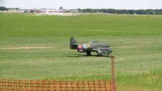Top Gun 2013 twin turbine Me 262 and turbine F-117 stealth with a crash landing