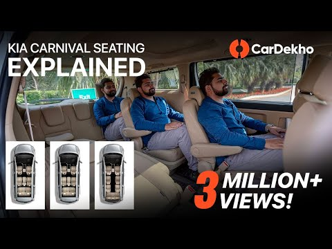Kia Carnival 7, 8 And 9-Seater | Space And Seating Review In Hindi | CarDekho.com