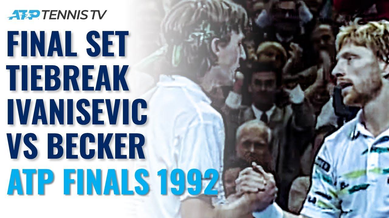 Boris Becker vs Goran Ivanisevic Crazy Final Set Tiebreak | 1992 ATP Tour Finals