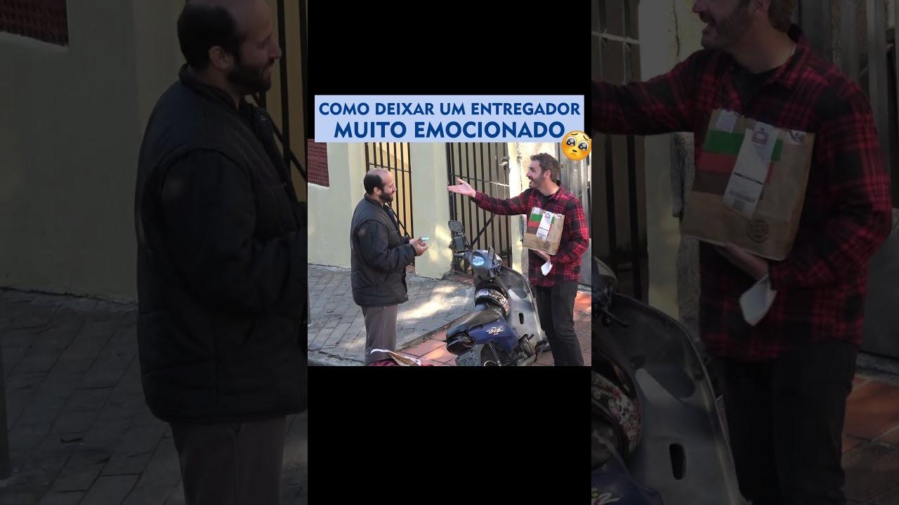 PEGADINHA - COMO DEIXAR UM ENTREGADOR DE COMIDA EMOCIONADO - #SHORTS