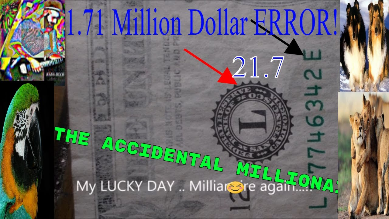 Mission Possible Video | 2017 One Dollar Bill  $1.7 Million  ERROR FOUND ! Anomalous Ink Blooper!!!