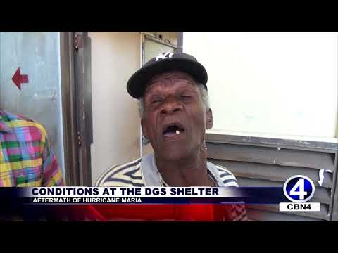 Marisa Reports on Conditions At The DGS Shelter   Aftermath Of Hurricane Maria