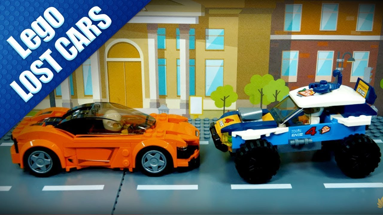 Lego City | The boys LOST CARS because engrossed in A BEAUTIFUL GIRL - Lego Stop Motion