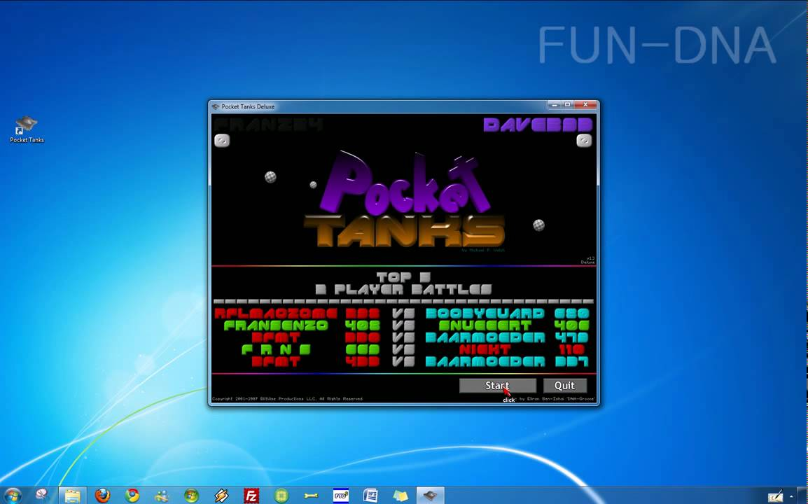 how to play pocket tanks online