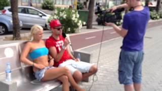 Priscilla und Tom geben ein Interview für RTL2
