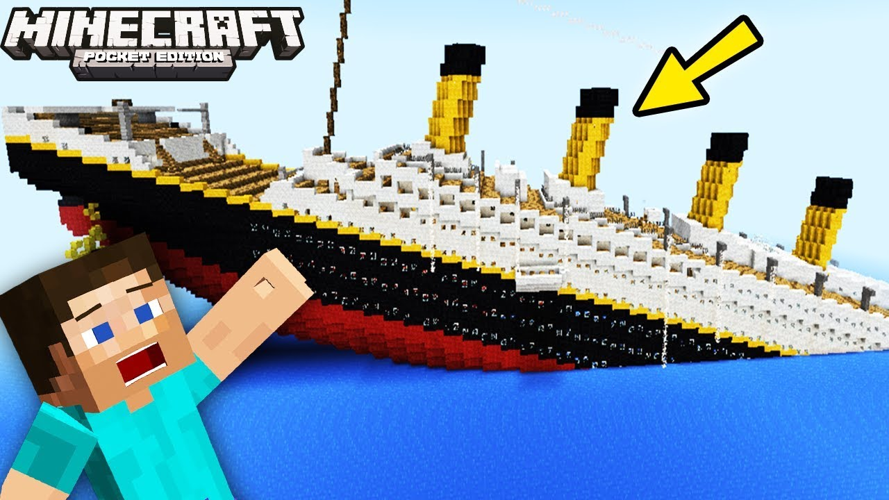 Titanic Sinking In Mcpe Minecraft Pocket Edition Minecraft Pe Mods Titanic Movie Game Youtube
