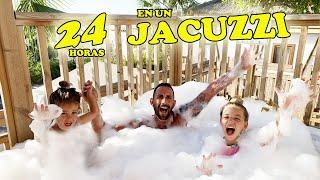 PASAMOS 24 HORAS EN EL JACUZZI - HACEMOS LA FIESTA DE LA ESPUMA | Familia Amiguindy