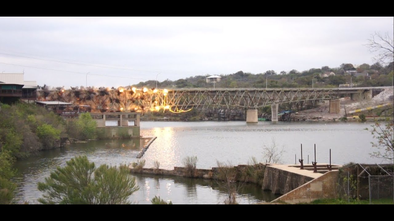 Marble Falls Bridge Implosion Youtube