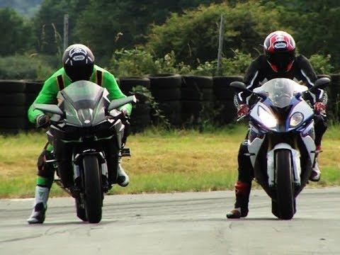 Drag race Kawasaki H2R Vs Hayabusa Vs S1000RR Vs KTM 1290