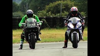 Video Drag race Kawasaki H2R Vs Hayabusa Vs S1000RR Vs KTM 1290 download MP3, 3GP, MP4, WEBM, AVI, FLV November 2019