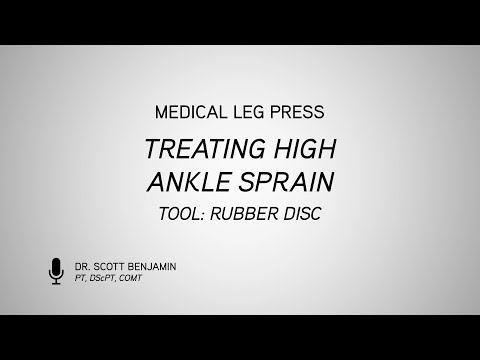 Medical Leg Press-Treating High Ankle Sprain with Rubber Disc