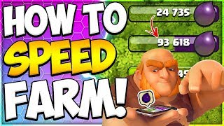 Proof This Is The Fastest Way to Farm Dark Elixir at TH9! How to Farm Loot in Clash of Clans