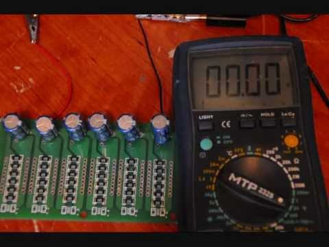 2 7v ultra super capacitor balancing circuitry