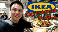 IKEA Christmas Buffet!!! - Julbord (A Christmas Table) full of Swedish Foods