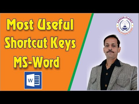 MS Word Shortcut Keys Part-1|Microsoft Word shortcut keys a to z in Hindi