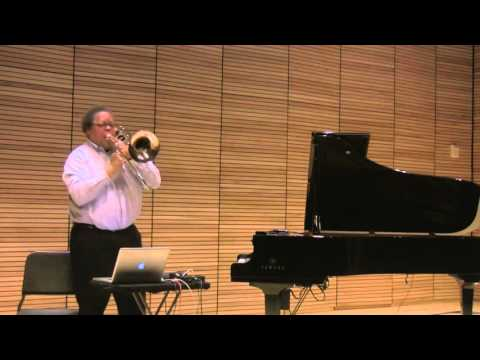 """George Lewis """"Interactive Trio"""" for Trombone, Two Pianos, and Interactive Music System, 2011"""