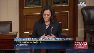 Sen Kamala Harris on Jeff Sessions as Attorney General Free HD Video