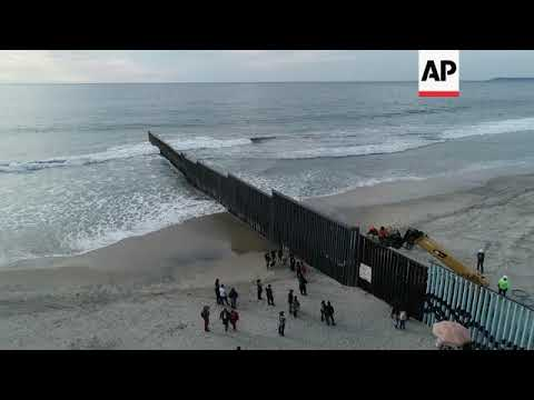 Drone Aerials Of US-Mexico Border