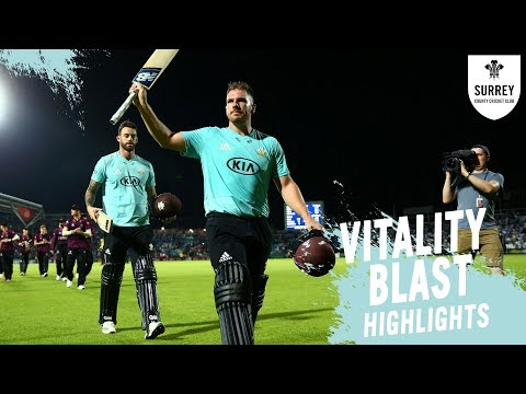 Finch hits it out of The Kia Oval! | Surrey v Somerset - Vitality Blast highlights