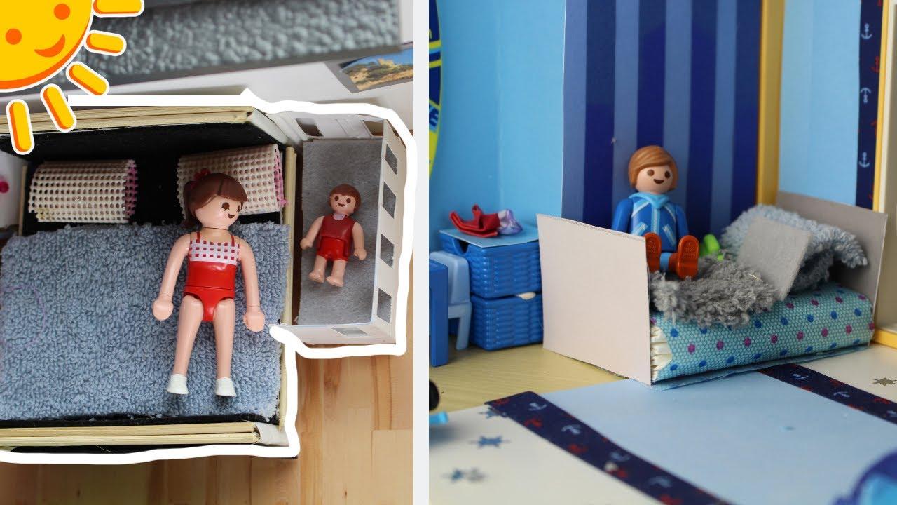 💛Playmobil Betten für Kinderzimmer und Schlafzimmer basteln- Pimp my  Playmobil Familie Sonnenschein