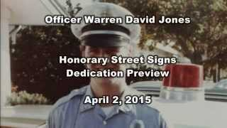 Sarasota Police:  Officer Jones Honorary Street Signs Dedication Preview